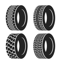 Truck or tractor car tire automobile wheel vector image