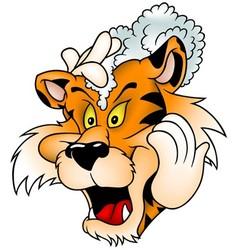 Washing Tiger vector image