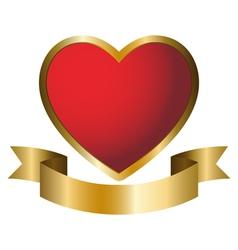 a heart symbol emblem vector image