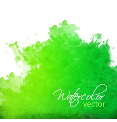 Abstract green watercolor splash vector