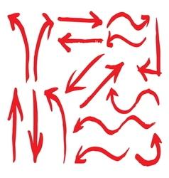 Arrows hand written2 vector image