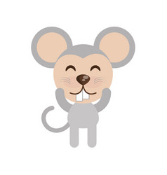 cute mouse animal character funny vector image