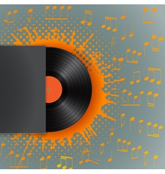 halftone stain vinyl background vector image