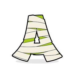 Letter A Mummy Typography icon in bandages vector image vector image