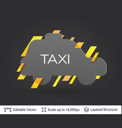 black badge taxi car sticker vector image vector image