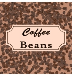 coffee beans Coffee design for shop or vector image