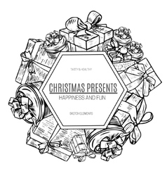 design gift boxes with bows vector image