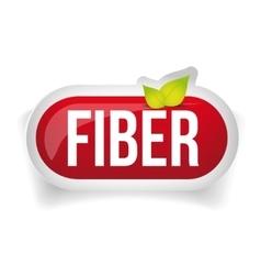 Fiber in Foods button vector image