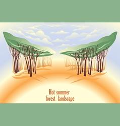 Hot summer forest landscape vector image vector image