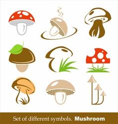 symbols mushroom vector image vector image