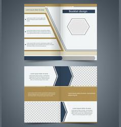 brown bifold brochure template design vector image