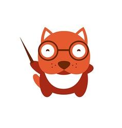 Funny character baby bulldog vector image vector image