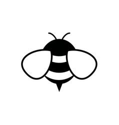 honey and bee icon honey vector image
