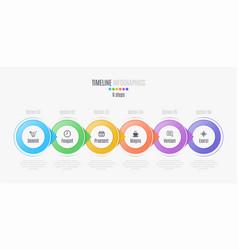 six steps infographic timeline presentation vector image