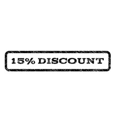 15 percent discount watermark stamp vector