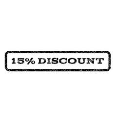 15 percent discount watermark stamp vector image vector image