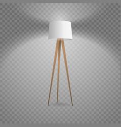 3d realistic render illuminated lamp vector image