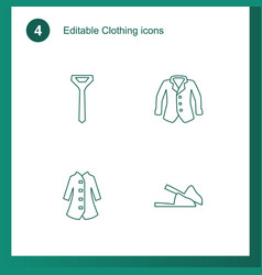 4 clothing icons vector