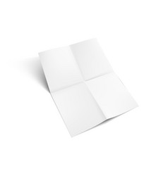 A4 sheet paper folded four times vector