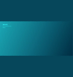 abstract banner web template blue wave lines vector image