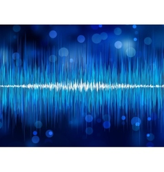 Abstract bokeh waveform EPS 8 vector
