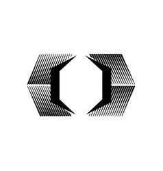 abstract box garage public self storage logo vector image