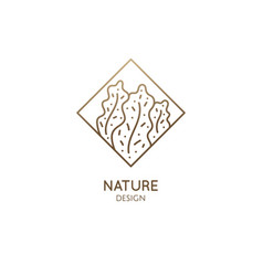 Abstract patterned nature logo vector
