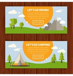 advertisement set concept banners vector image