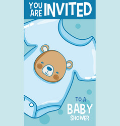 baby shower card you are invited vector image