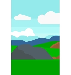 Background of hilly countryside vector