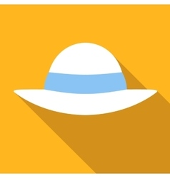 Beach hat colored flat icon vector