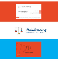 beautiful libra logo and business card vertical vector image