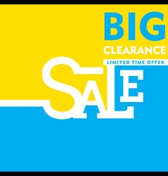 big clearance sale banner or poster design vector image