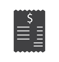 bill icon on white backgroundbill sign vector image