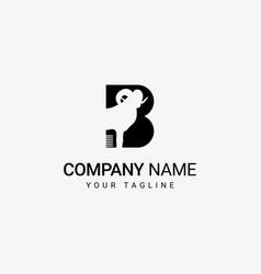 black goat logo vector image