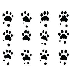 Black print jaguar paw vector