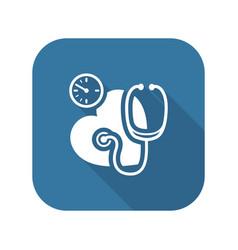 Blood pressure icon flat design vector