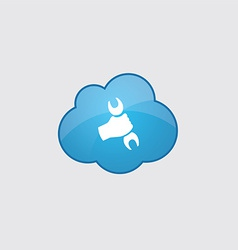 Blue repair icon vector