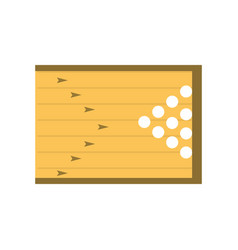 Bowling field symbol vector