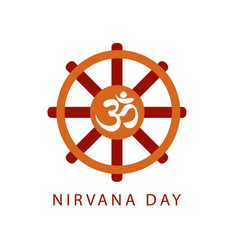 Buddhist celebration of nirvana day vector