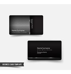 Business Card template set 53 Dark metal and steel vector image