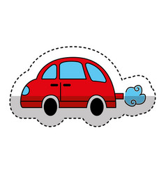 car toy isolated icon vector image