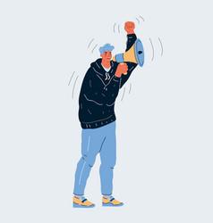 cartoon man standing vector image