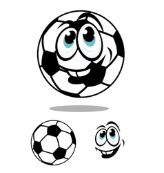 Cartoon soccer or football ball charcter vector image
