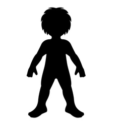 child silhouette vector image