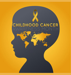Childhood cancer awareness month logo icon vector