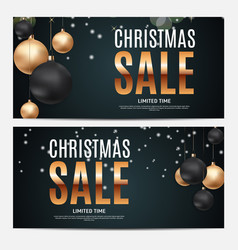 Christmas and new year sale gift voucher discount vector