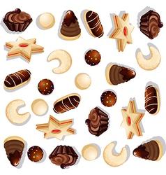 Christmas cookie pattern vector