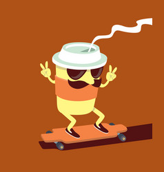 coffee cup character vector image