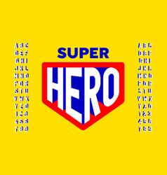 Comics super hero style font design vector